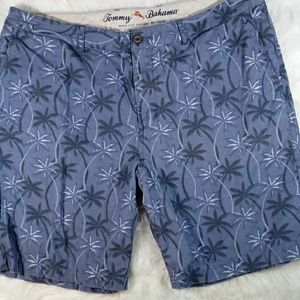 Tommy Bahama Mens Blue Palm Tree Beach Shorts 42